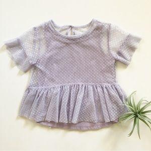 Purple/lavender lace top